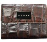 Кошелёк Cross Coco Nicole AC538226-2 Кожа наппа, тиснёная, коричневый 12.5х10х2,4 см