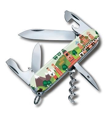 Нож Victorinox 1.3603 RUSSIA Spartan Из России с любовью, офицерский, 91мм