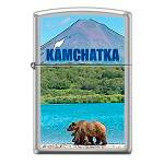 Зажигалка Zippo 205 Камчатка Satin Chrome