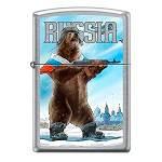 Зажигалка Zippo 207 Русский медведь Street Chrome