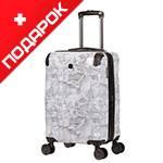 Чемодан Wenger WG7330000154 CASCADE, белый с принтом, АБС-пластик, 35х23х49 см, 39 л.